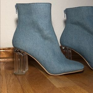 Forever 21 Denim Booties!!
